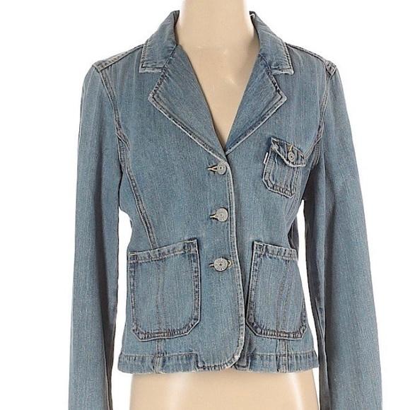 Vtg Levi studded denim jacket